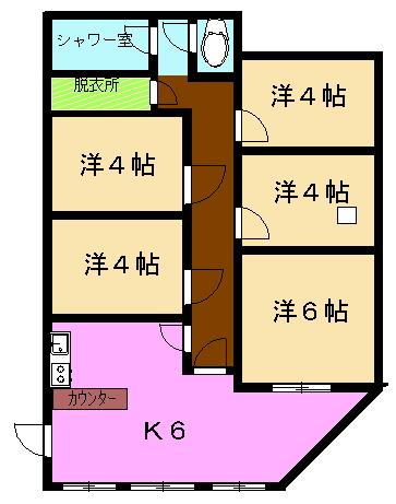 グリーンハウス2 E号室