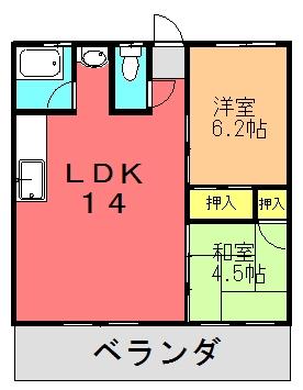 ルミエール(2LDK)間取り図