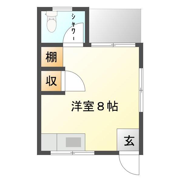 当山学生アパート(クロス仕様)間取り図