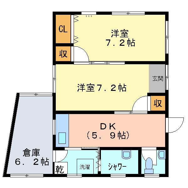 シーサーハウス(1-B)間取り図