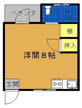 当山学生アパート間取り図