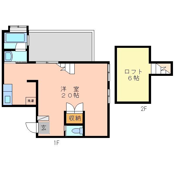 KURASUKA南上原≪ロフト付き1ルーム≫3号室間取り図