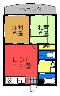 メゾンソレイユ【角部屋】間取り図