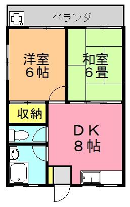 喜瀬アパート間取り図