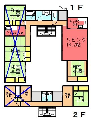 永井氏共同住宅間取り図