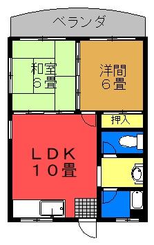 シャンハイム(2LDK)間取り図