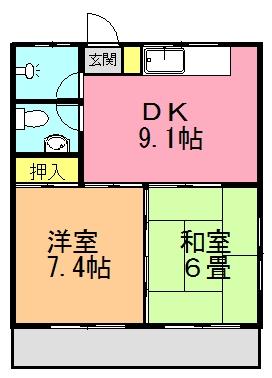 稲福アパート間取り図