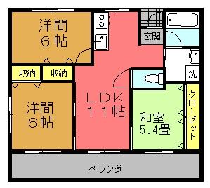 Ma.サンセチア (3LDK)間取り図