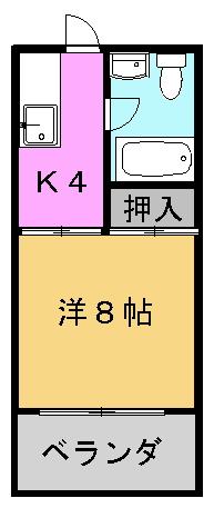 知念第一アパート間取り図