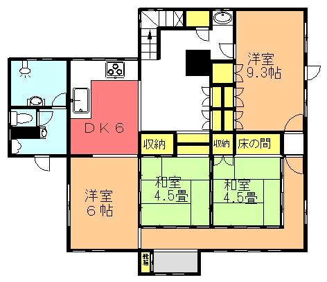 宮城氏貸住宅(1F)間取り図