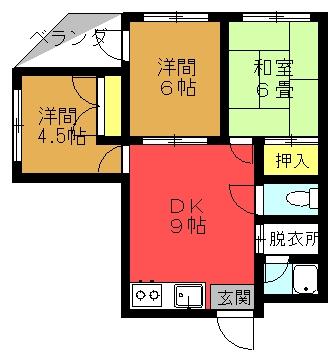 レオマコーポ 401号室 (3DK)