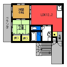 フォーサイトⅡ(2号室)間取り図