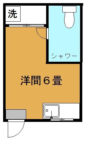沖縄ハイランズアイリ(トイレ・シャワー付き)間取り図