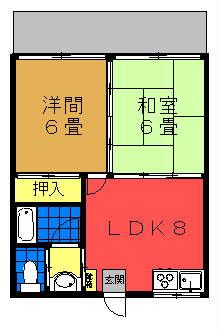 多和田コーポ間取り図