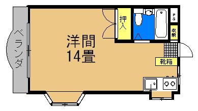 ハーモニーハウス (2&3号室)間取り図