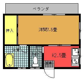 伊佐アパート(203)間取り図