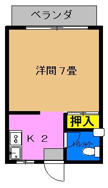 ゲーブルハウス (310号室)間取り図