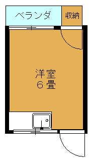 マンガ荘≪207号室≫間取り図