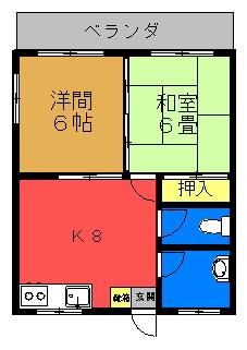 メゾン藤【角部屋】間取り図