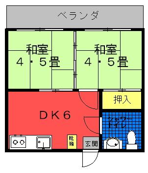 宮城アパート間取り図