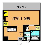 プレジャーリンクス (2.3号室)間取り図