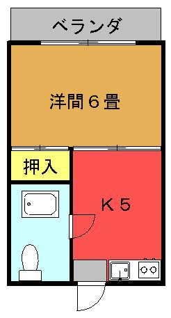 琉大北口前アパート間取り図