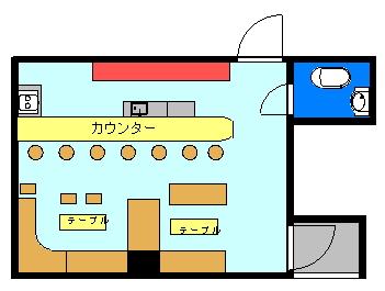 多和田社交ビル(2F)間取り図