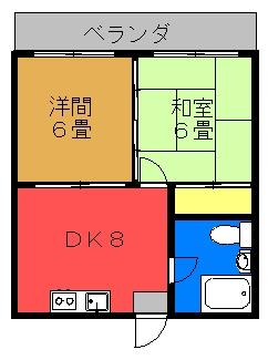 第2富島アパート間取り図